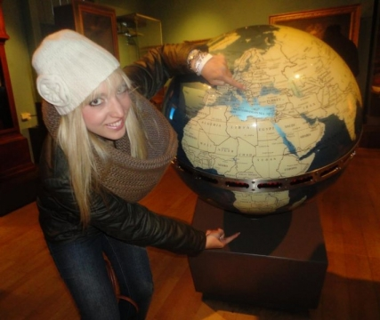 Megan covering the globe