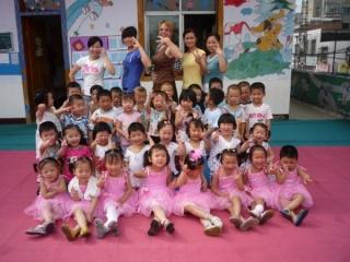 Sandy's kindergarten class in China