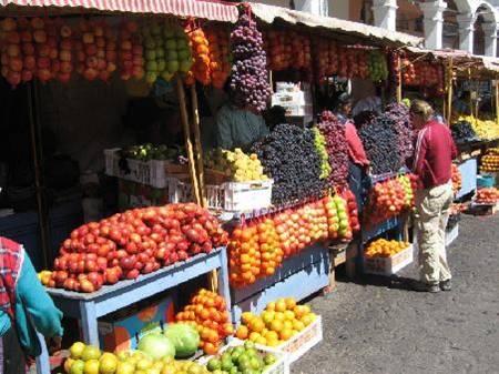 A market in Ecuador
